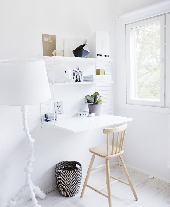 office small work space from Betina Stampe Pinterest