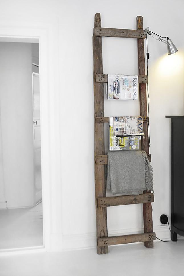 Escada ladder revista e mantas decoreba-design