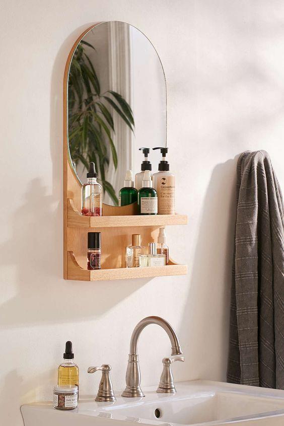banheiro pequeno espelho decoraba design