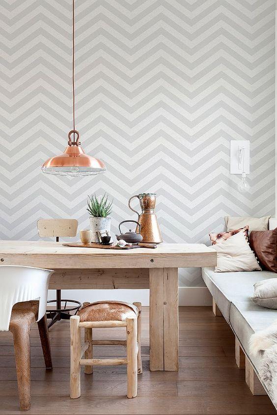 papel de parede chevron decoreba design