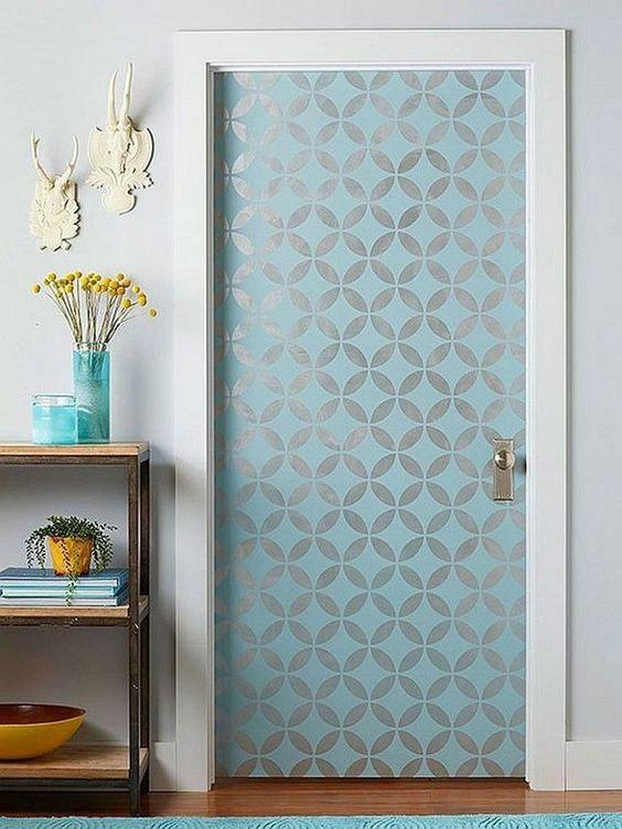 papel de parede porta decoreba design