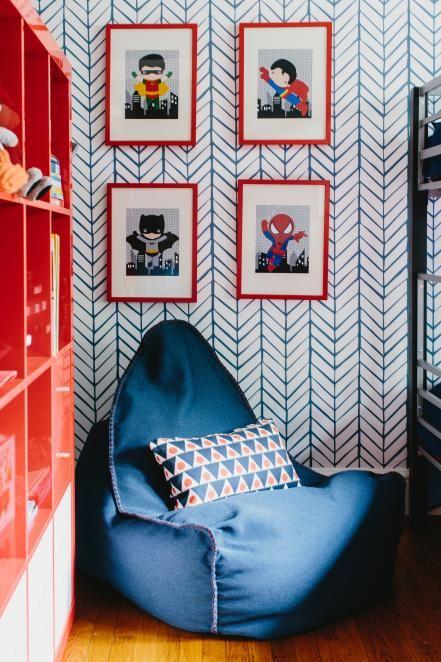 papel de parede quarto kids decoreba design